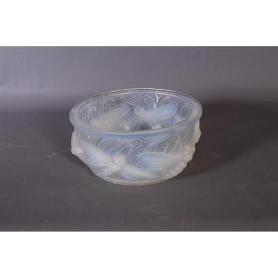 Pressed Glass Cup - Opalescent Molded