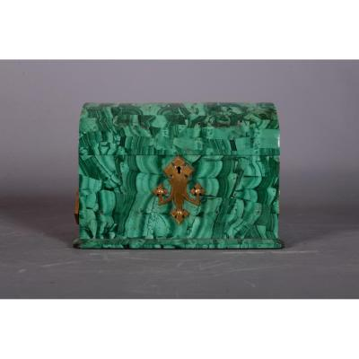 Box Bombed Malachite Russia End XIXth Century