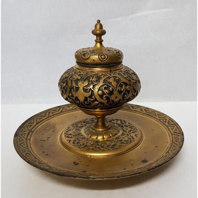 Encrier En Bronze Japonisant Armand Point (1860 - 1932)