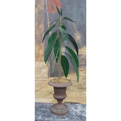 Centre de table formant Palmier dans un vase medicis