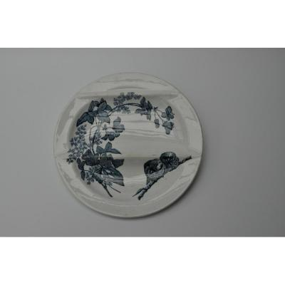 Assorted Asparagus Plate In Longwy Earthenware