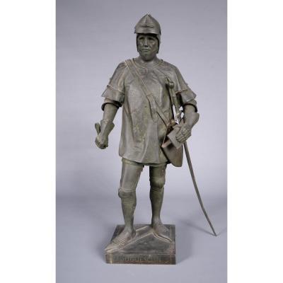 Chef modèle en Bronze représentant Du Guesclin