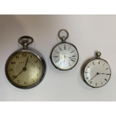 Lot Of 3 Pocket Watches