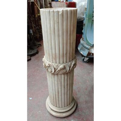 Half Column In Alabaster