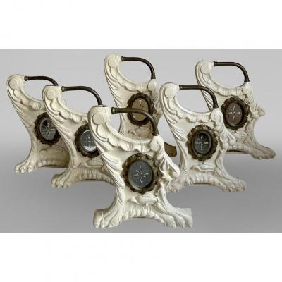 Elements Of Carousel In Carved Wood, Louis XV Style Decor