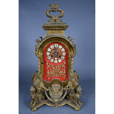 Horloge En Bronze De Style Régence