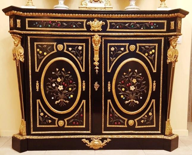 Buffet Boulle Napoléon III A Pierres Dures