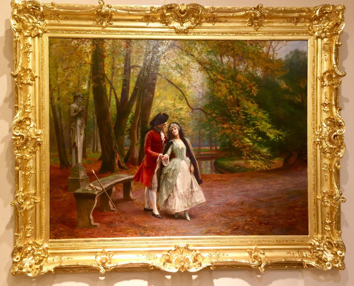 Scène Galante Dans Le Parc De Versailles Par Jules Girardet