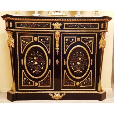 Napoleon III Boulle Style Buffet With Precious Stones