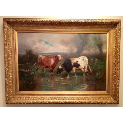 Troupeau De Vaches Par Henry Schouten