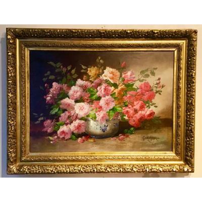 Bouquet De Roses Par Godchaux