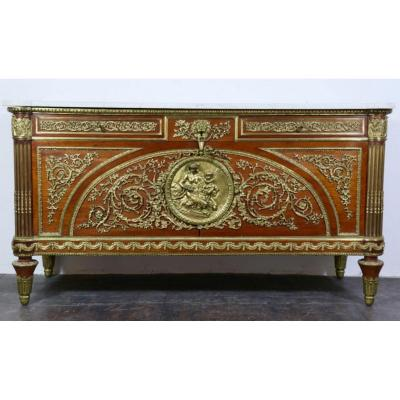 Mahogany Commode Louis XVI Style After Beneman