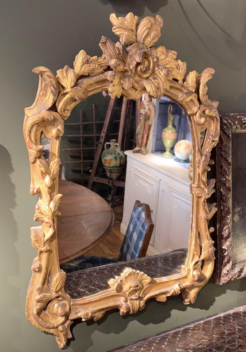 Miroir D'époque 18ème – Transition Régence Louis XV