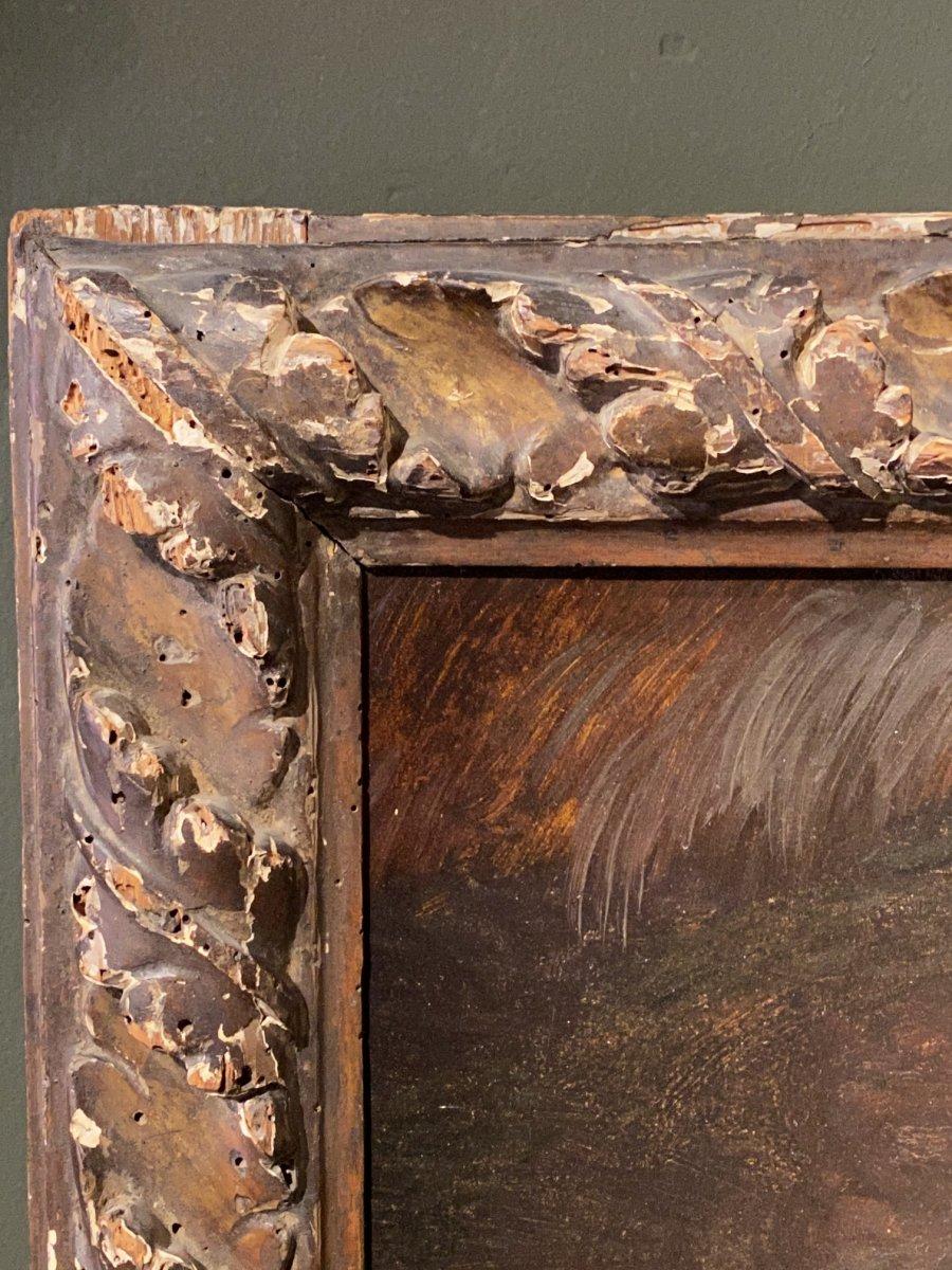 Paire De Tableaux Italiens 18ème Scène Rustique Avec Animaux-photo-4