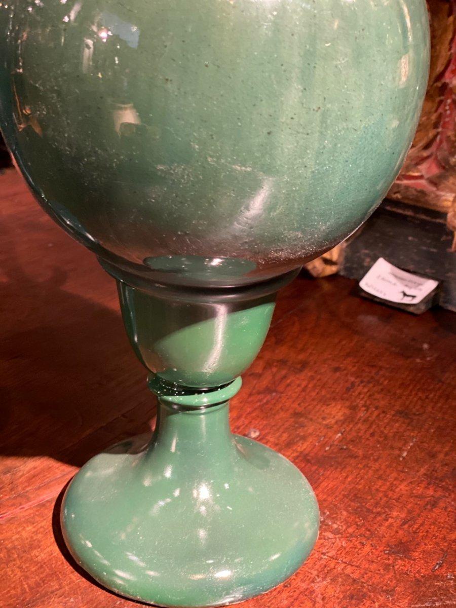 Deux Aiguières En Céramique Verte Début 20ème-photo-2