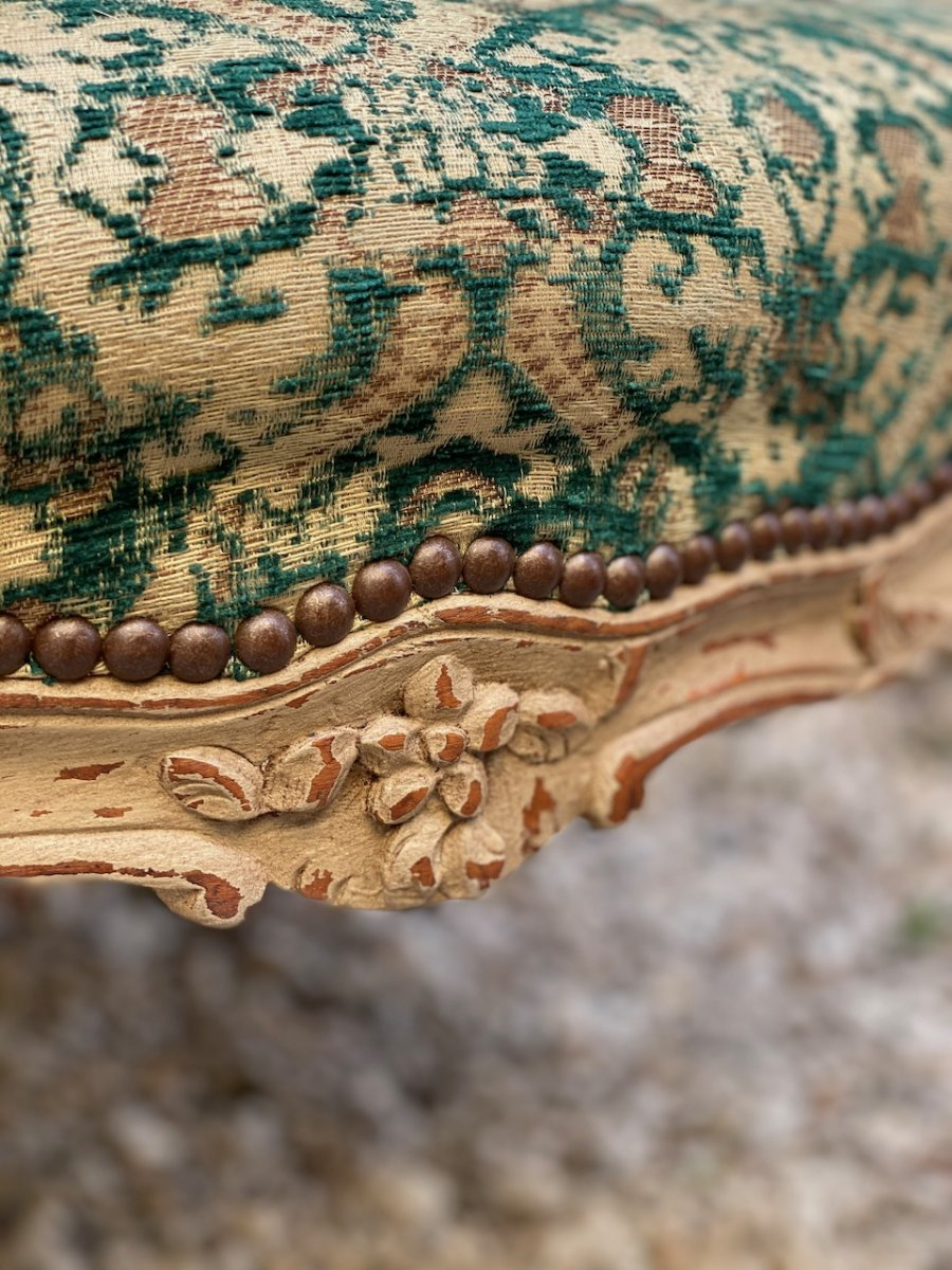 Fauteuil Bois Peint époque Régence 18eme-photo-4