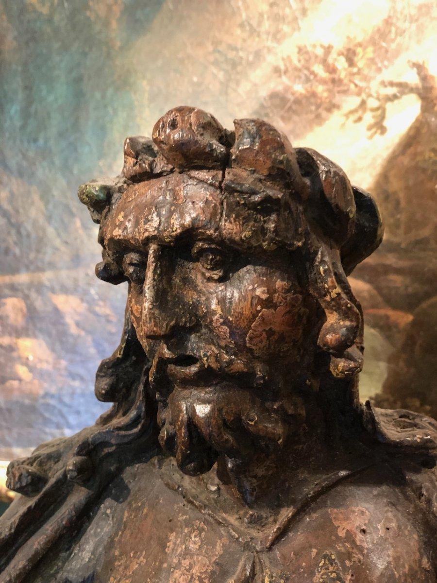 Christ Aux Liens Bois Sculpté Monoxyle 17èmè-photo-2
