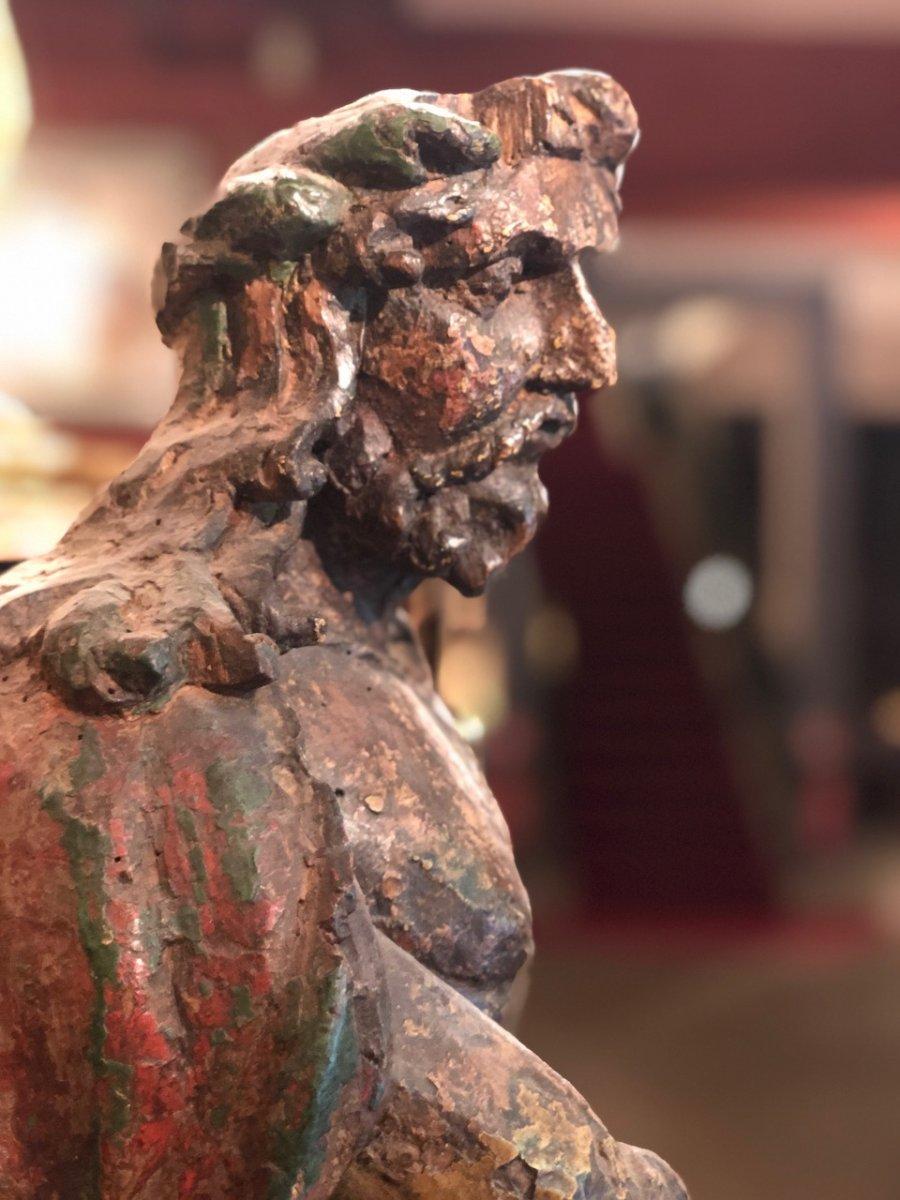 Christ Aux Liens Bois Sculpté Monoxyle 17èmè-photo-3
