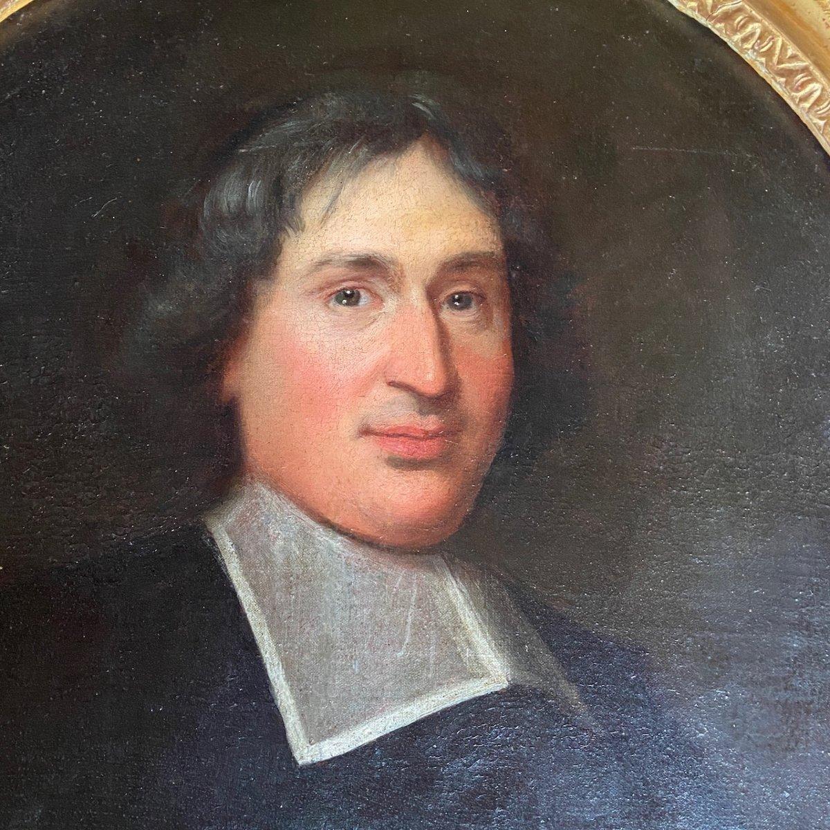 Portrait D'ecclésiastique Milieu 17ème-photo-1