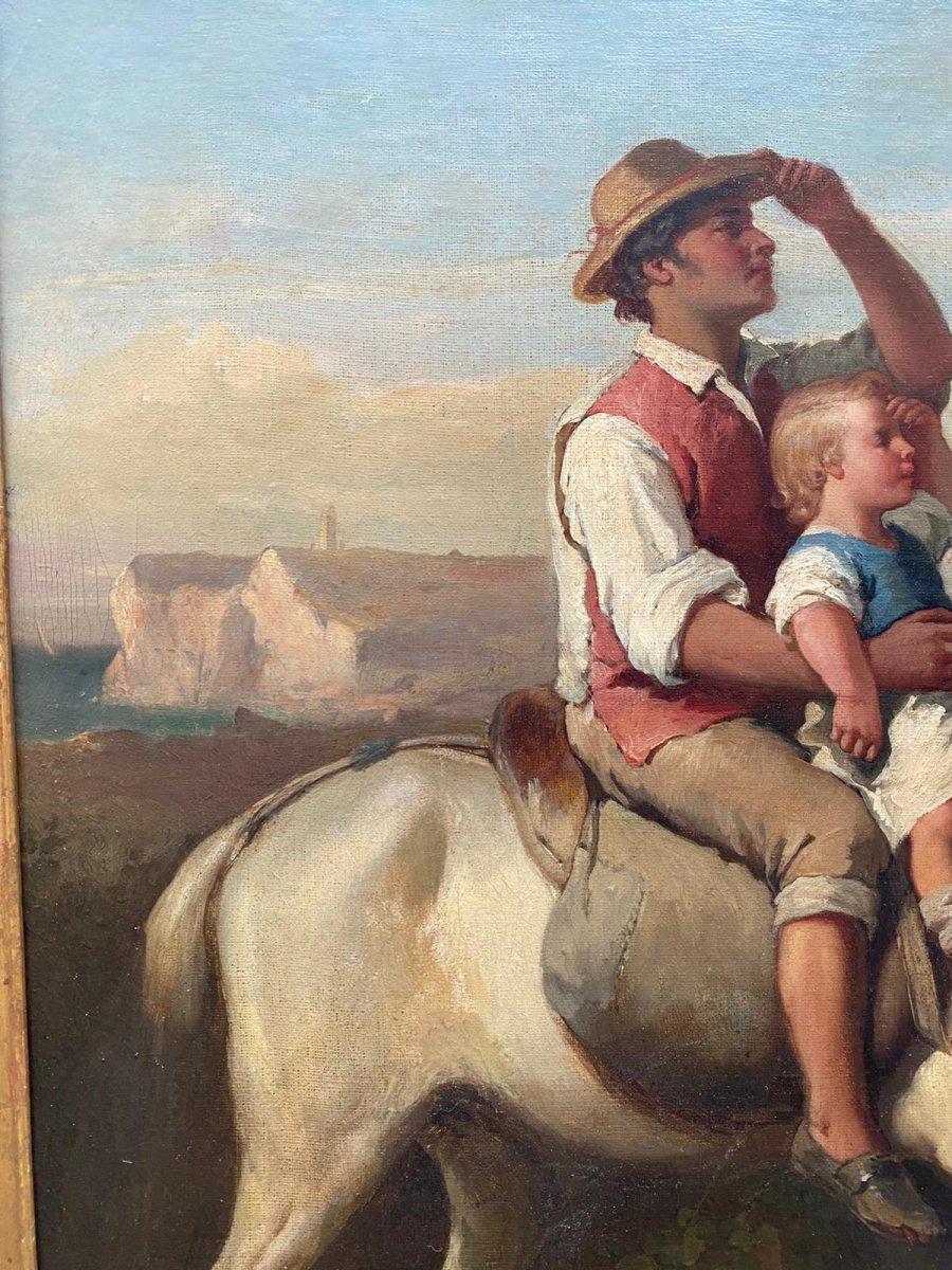 Scène De Genre 19eme Louis Lanfant De Metz-photo-2