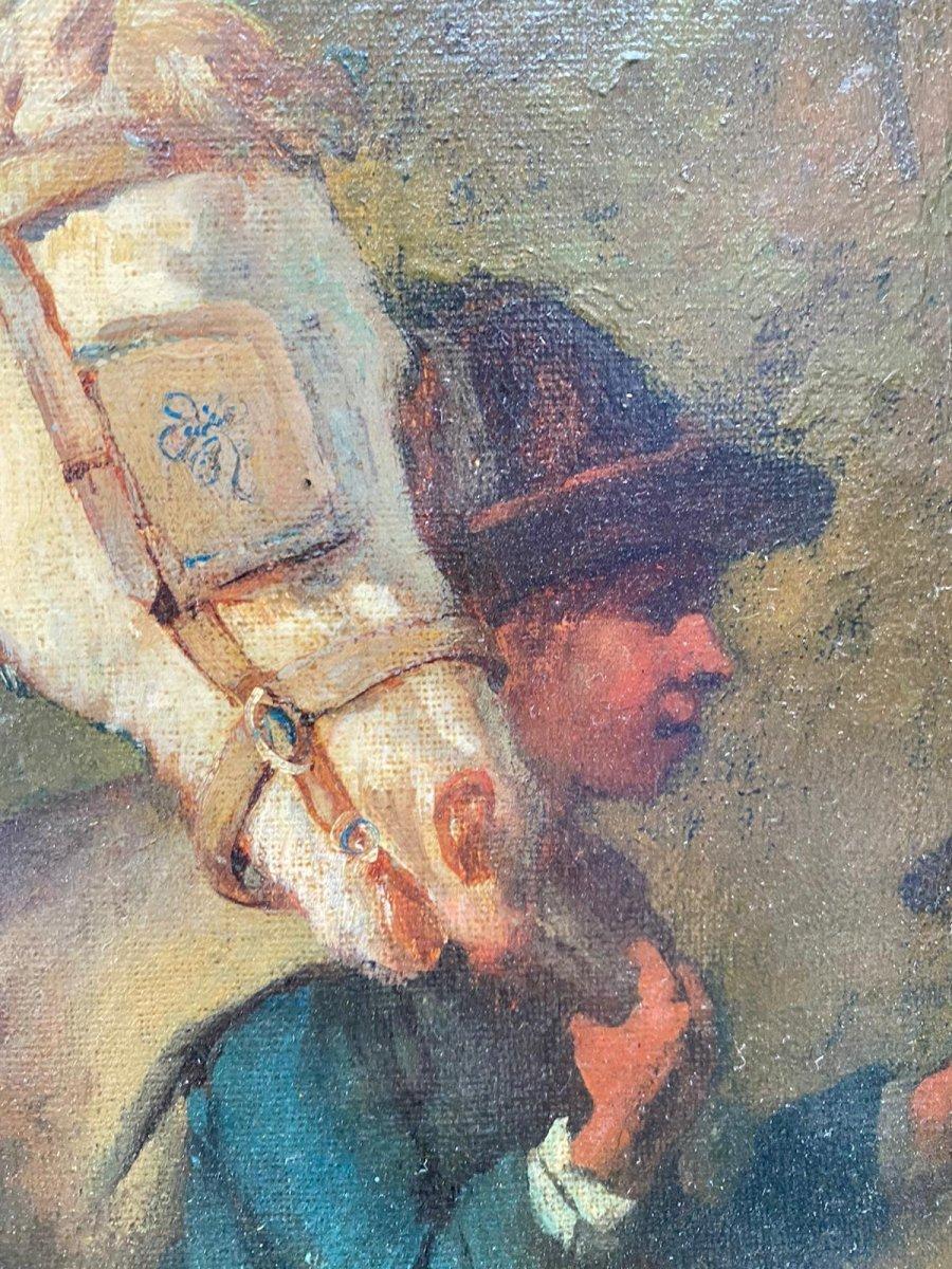 Scène De Genre 19eme Louis Lanfant De Metz-photo-5