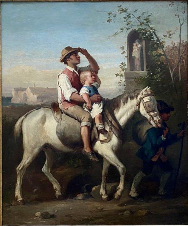 Scène De Genre 19eme Louis Lanfant De Metz