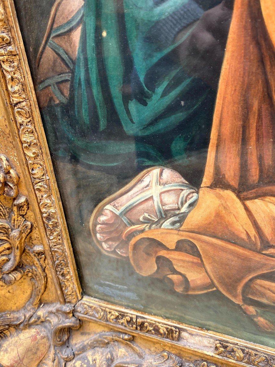 Étude à l'Aquarelle De Guillemot Représentant Le Christ Apparaissant Aux 3 Maries-photo-3