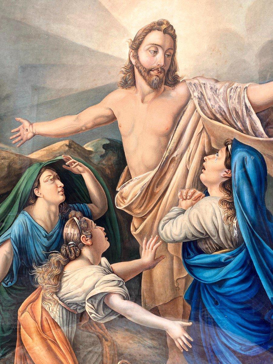 Étude à l'Aquarelle De Guillemot Représentant Le Christ Apparaissant Aux 3 Maries-photo-7