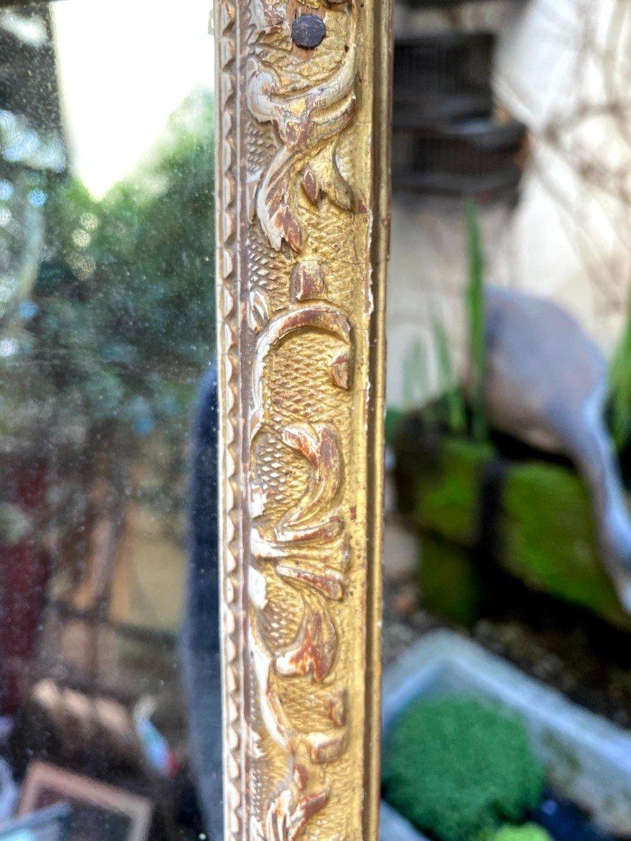 Petit Miroir Bérain 18ème En Bois Doré-photo-2