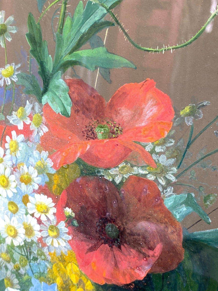 Bouquets De Fleurs Printanières Peintes à La Gouache Par Thérèse Guérin -photo-2