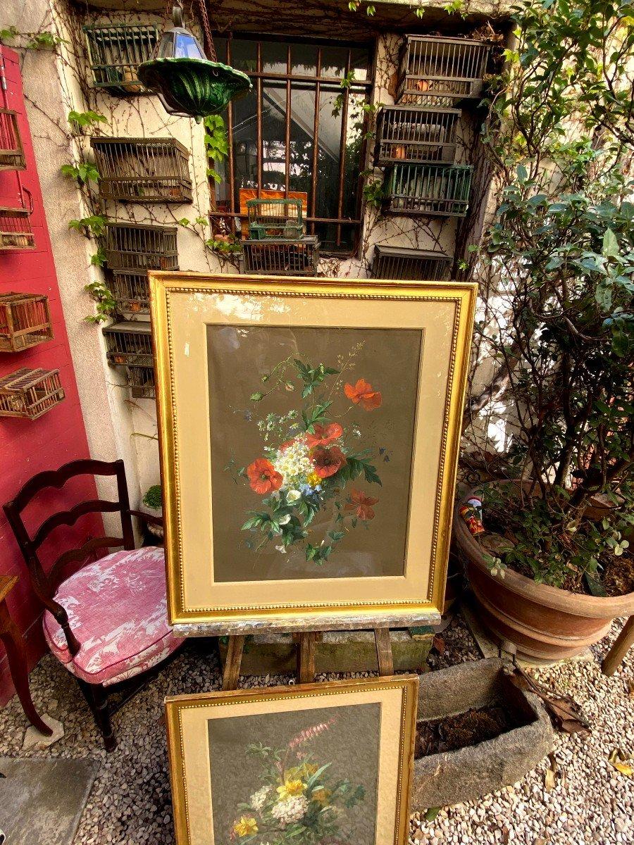 Bouquets De Fleurs Printanières Peintes à La Gouache Par Thérèse Guérin -photo-1