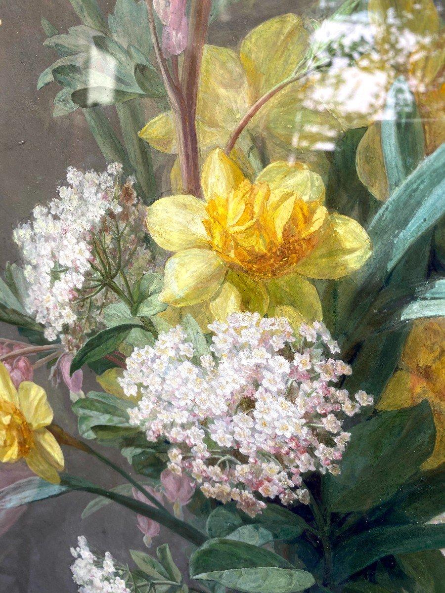 Bouquets De Fleurs Printanières Peintes à La Gouache Par Thérèse Guérin -photo-3