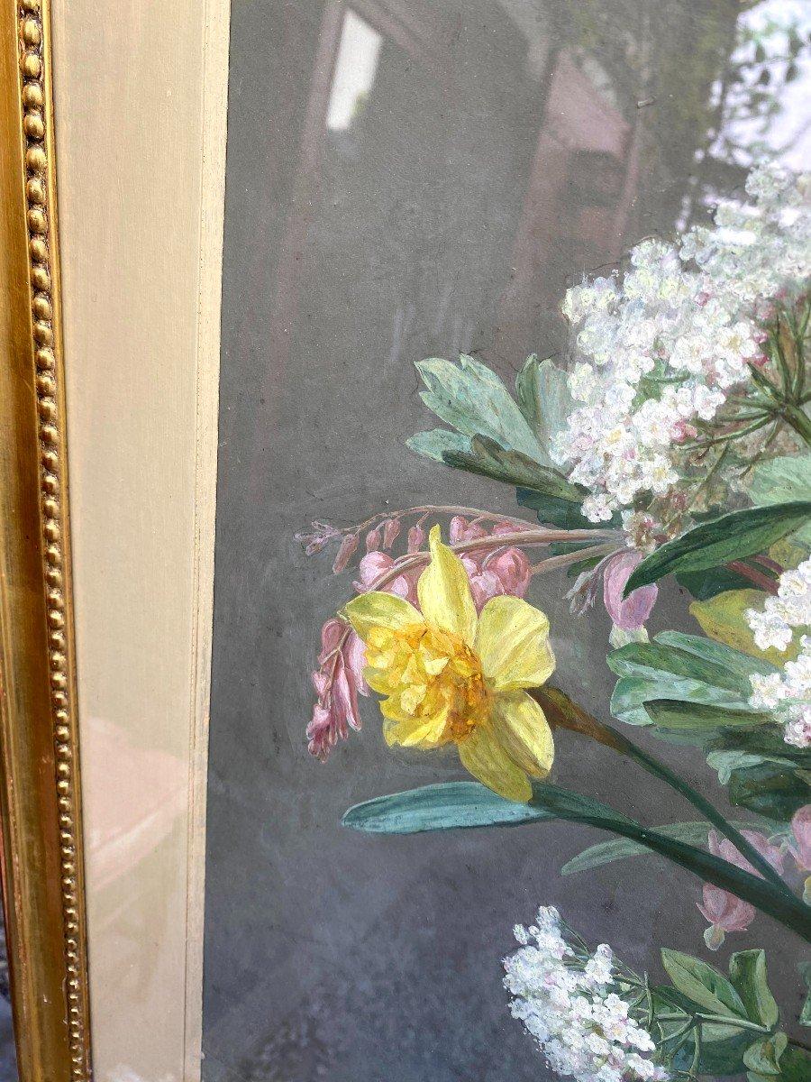 Bouquets De Fleurs Printanières Peintes à La Gouache Par Thérèse Guérin -photo-6