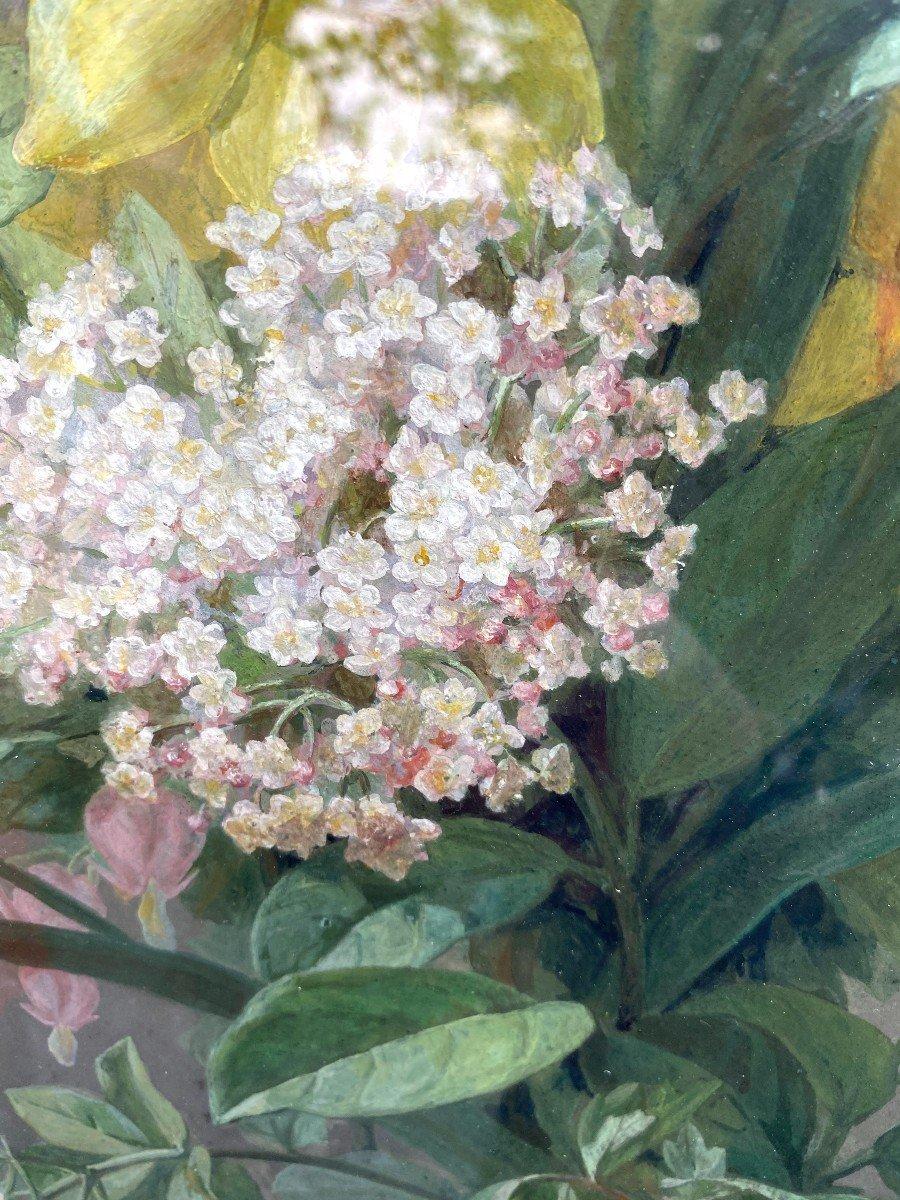 Bouquets De Fleurs Printanières Peintes à La Gouache Par Thérèse Guérin -photo-8