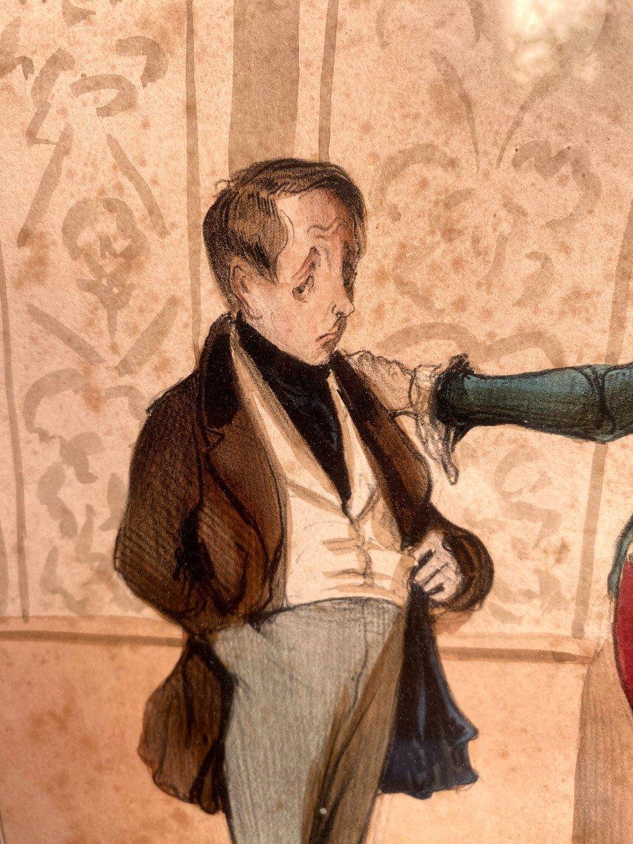 Deux Lithographies De  La Série De Caricaturana De Honoré Daumier-photo-2