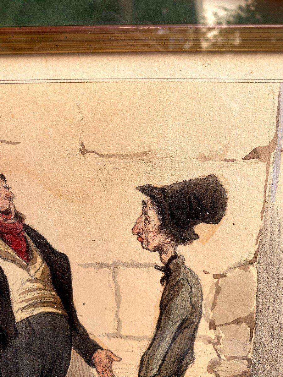 Deux Lithographies De  La Série De Caricaturana De Honoré Daumier-photo-3