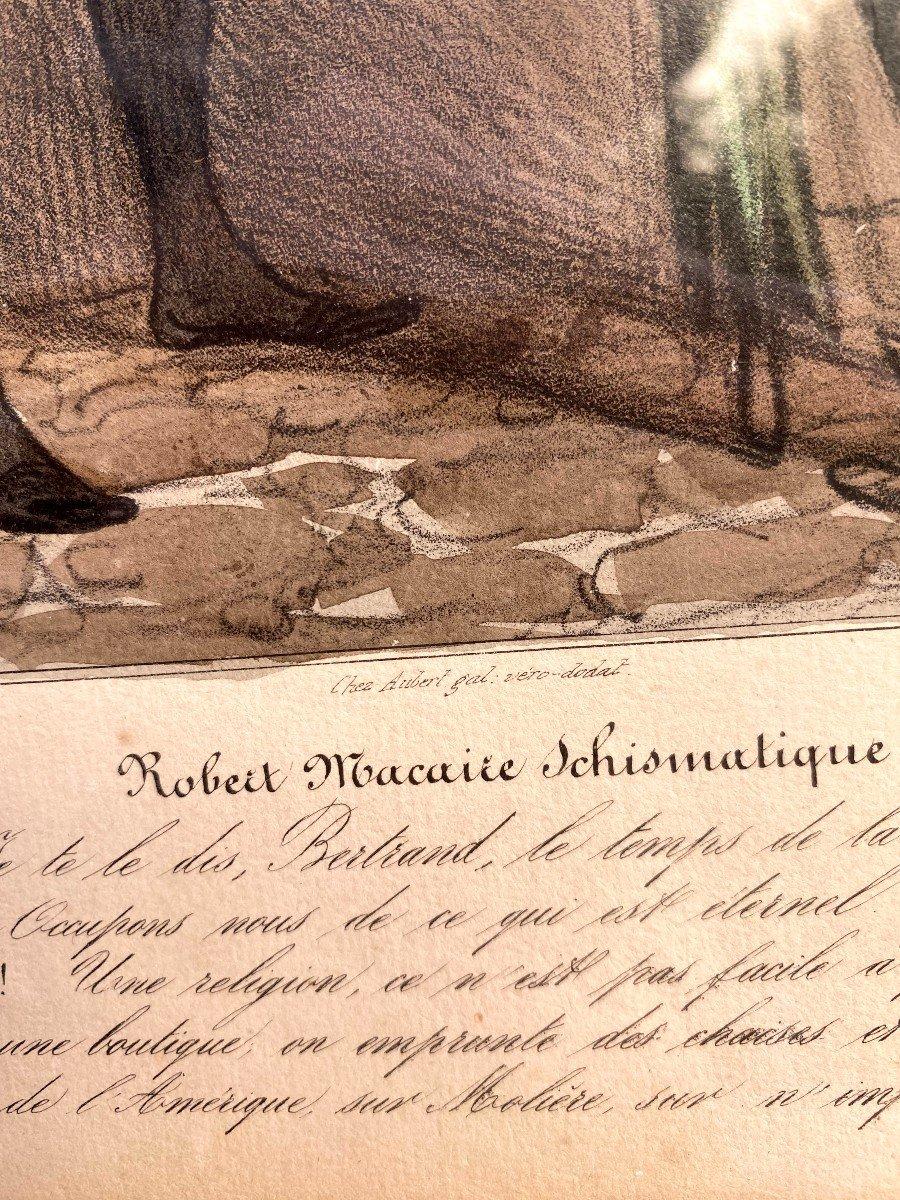 Deux Lithographies De  La Série De Caricaturana De Honoré Daumier-photo-1