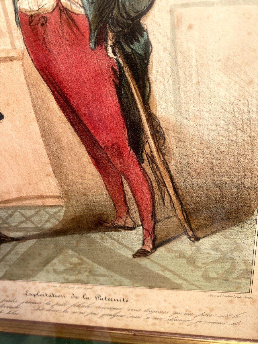 Deux Lithographies De  La Série De Caricaturana De Honoré Daumier-photo-4