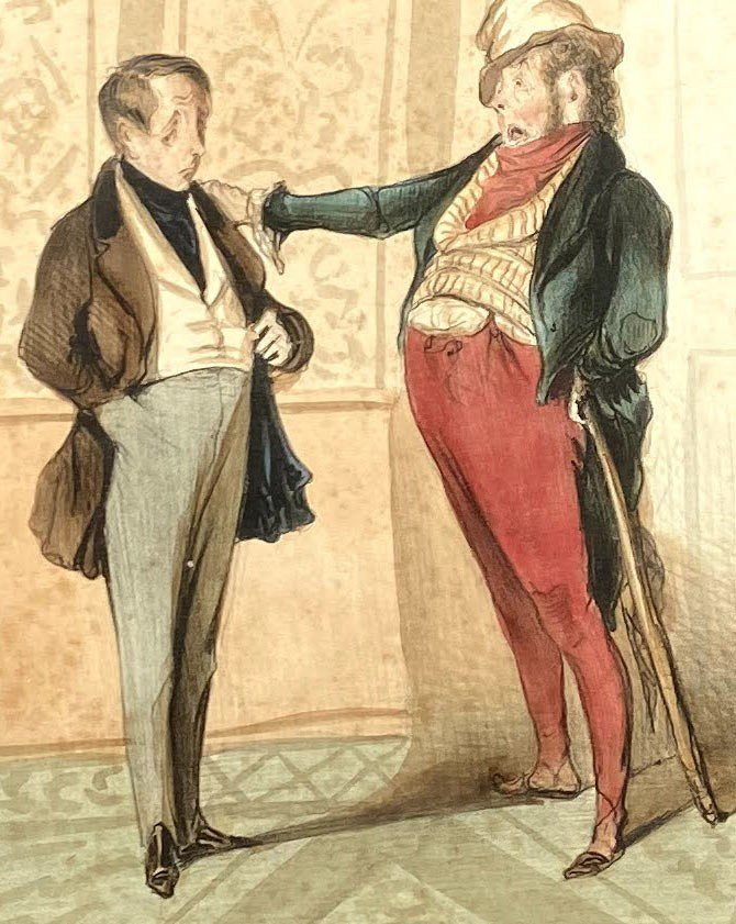 Deux Lithographies De  La Série De Caricaturana De Honoré Daumier-photo-7