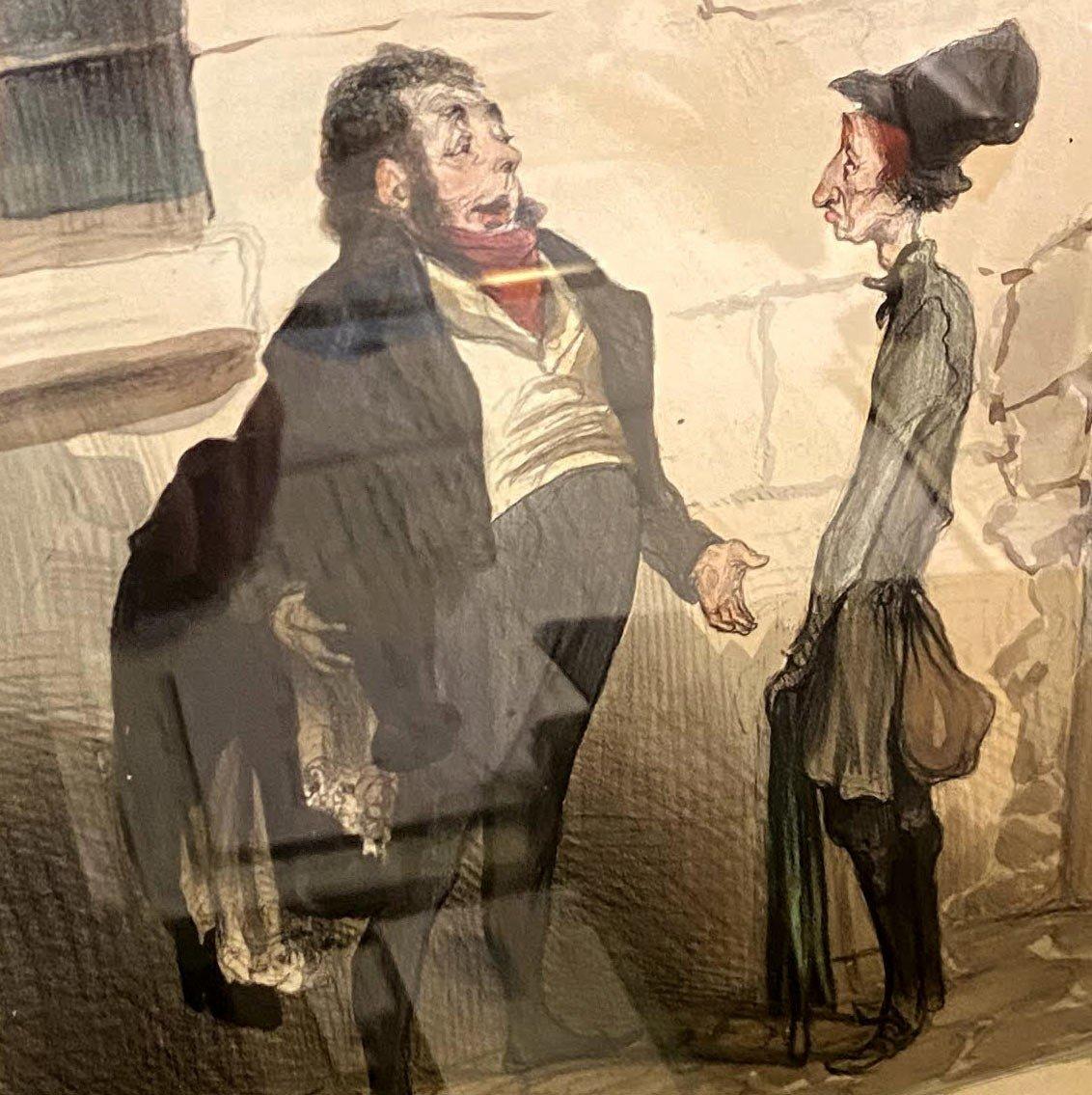 Deux Lithographies De  La Série De Caricaturana De Honoré Daumier-photo-8