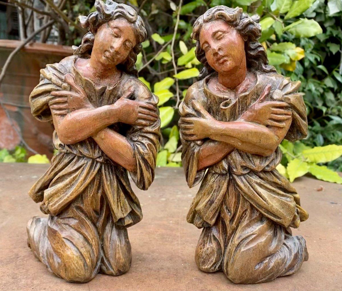 Paire D Anges En Prière