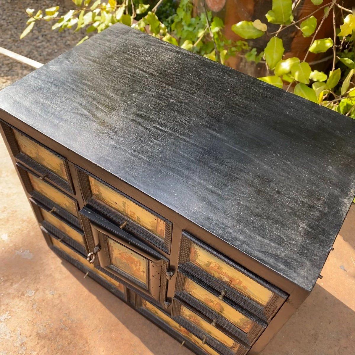 Petit Cabinet Noirci 17ème -photo-2