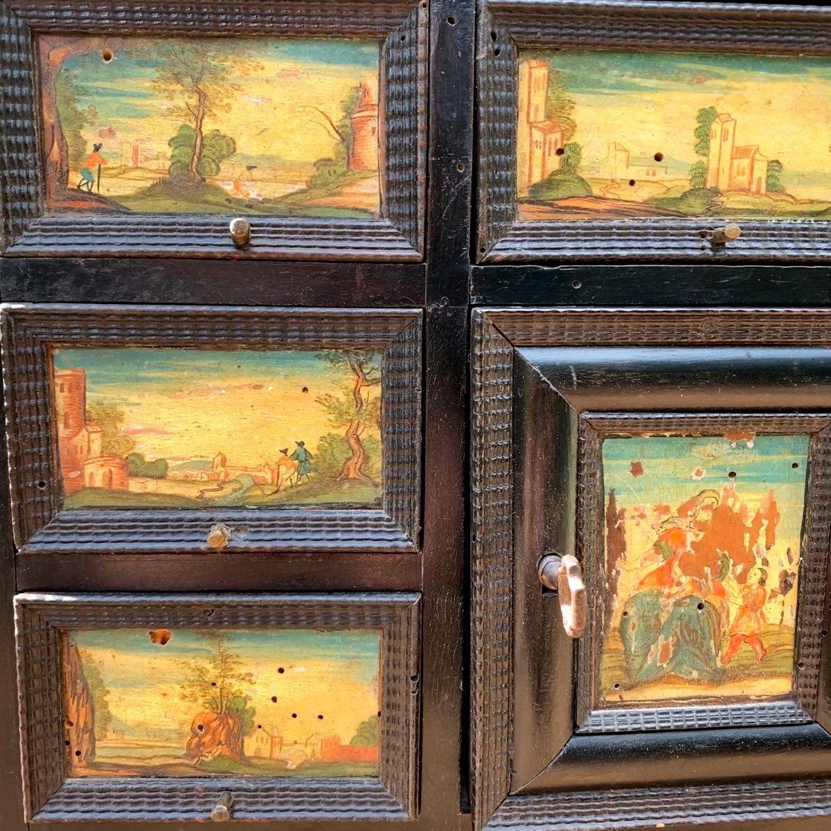 Petit Cabinet Noirci 17ème -photo-4