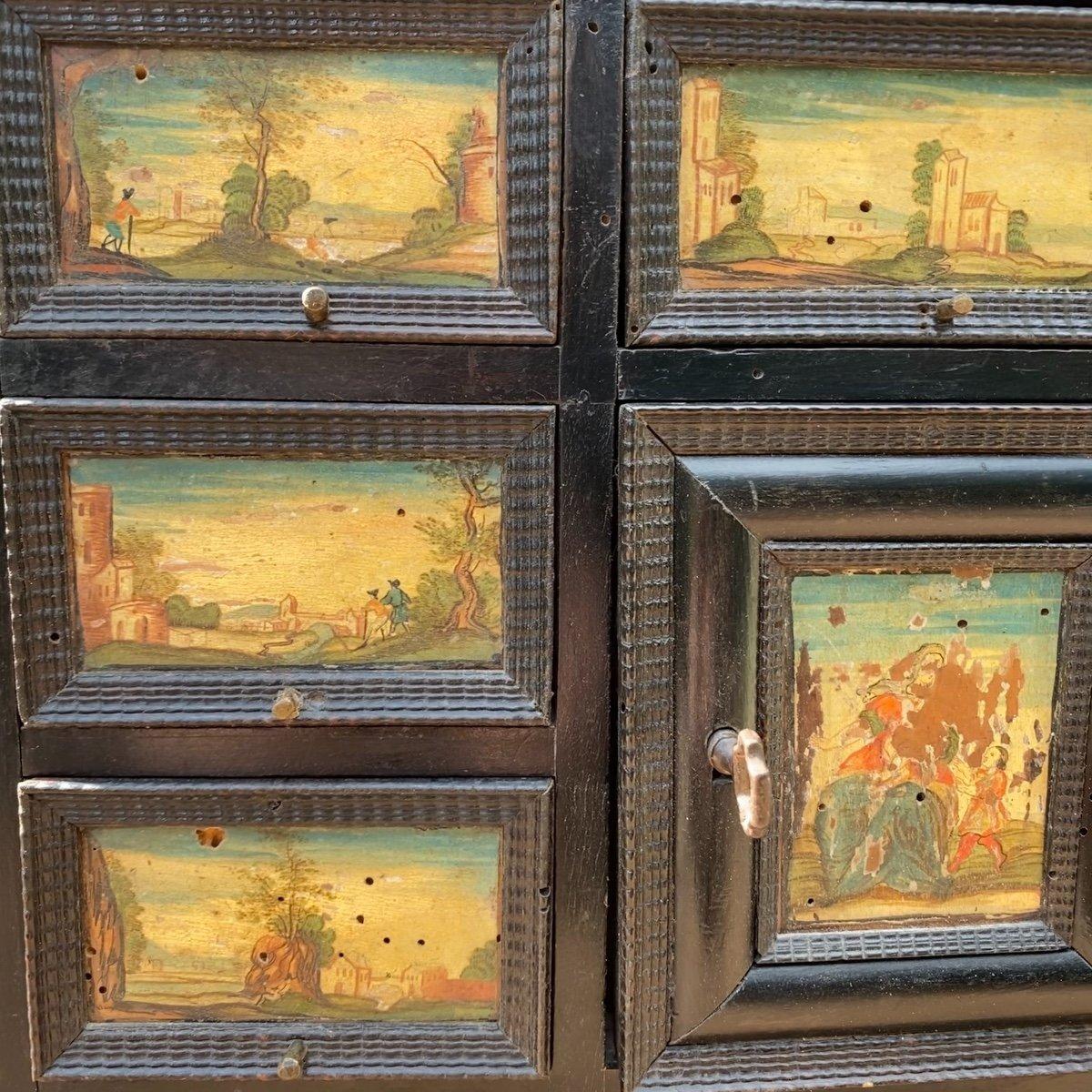Petit Cabinet Noirci 17ème -photo-1