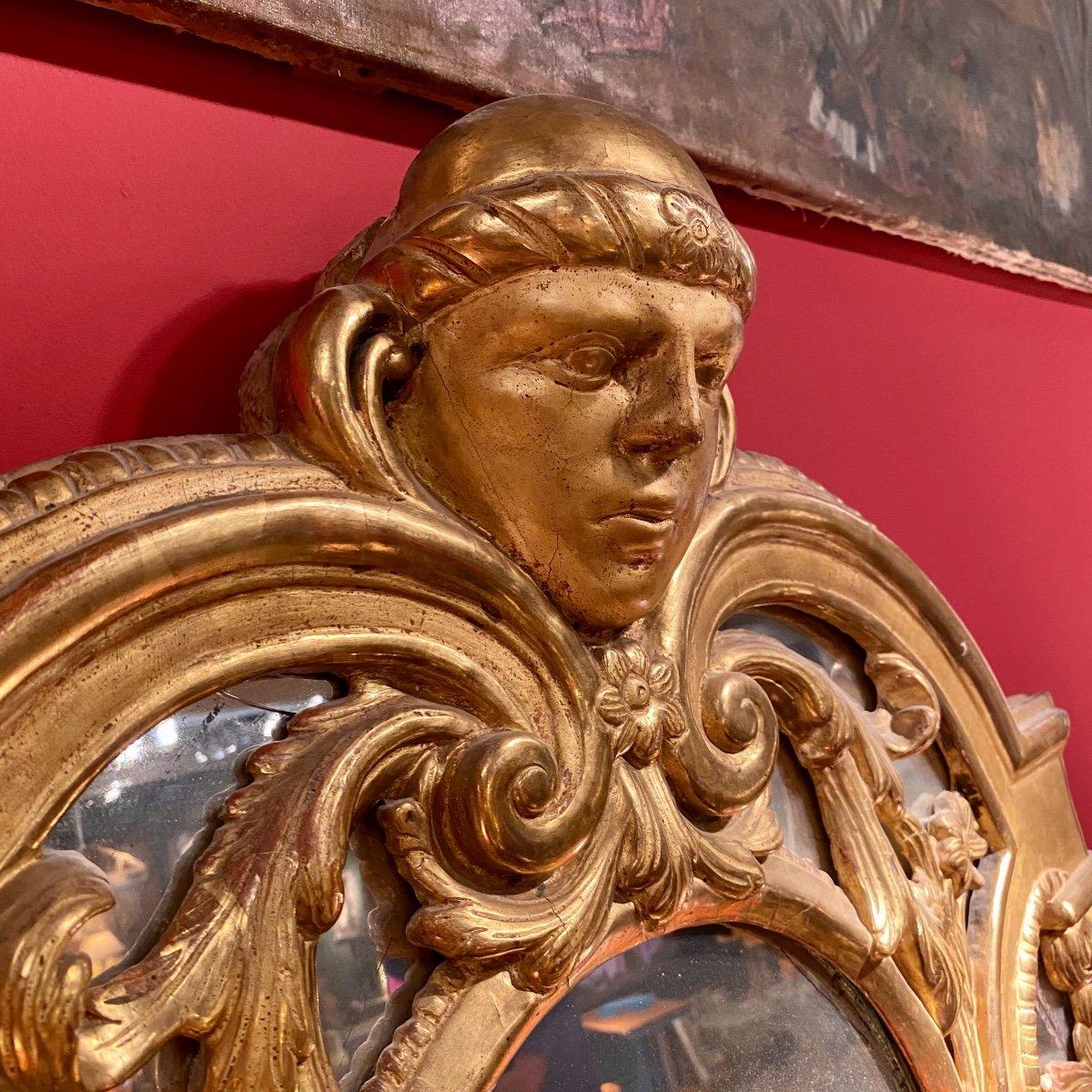 Miroir Doré Louis XIV à Parecloses 18ème-photo-1