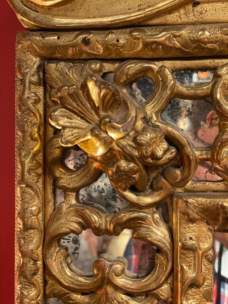 Miroir Doré Louis XIV à Parecloses 18ème-photo-2