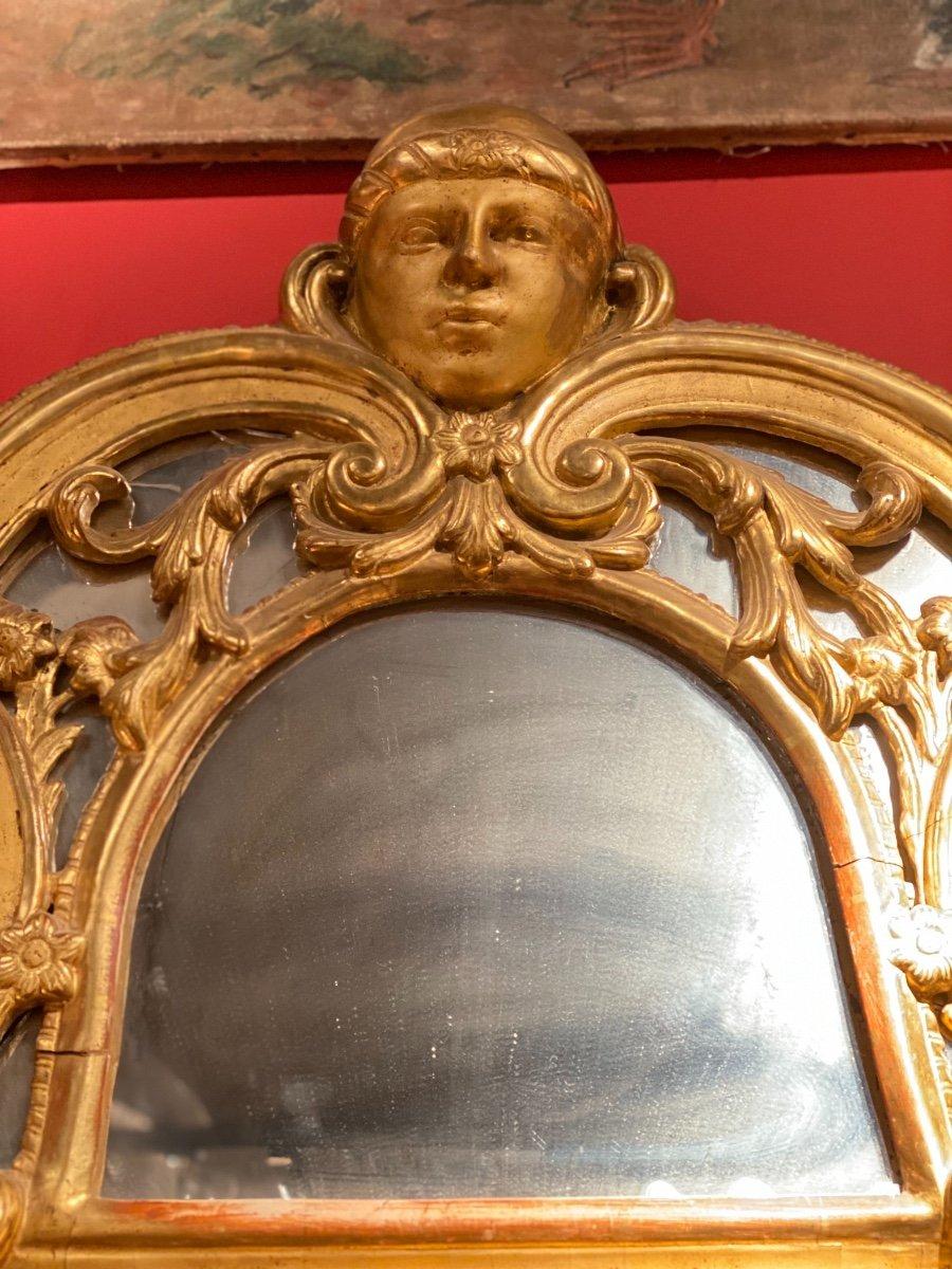 Miroir Doré Louis XIV à Parecloses 18ème-photo-4