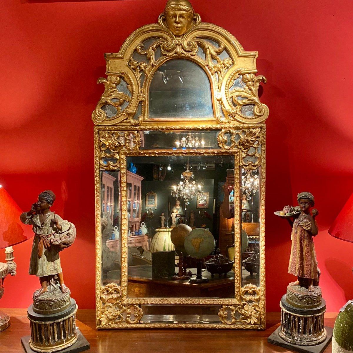 Miroir Doré Louis XIV à Parecloses 18ème