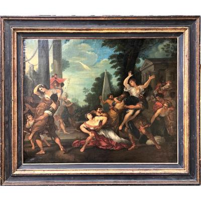The Abduction Of The Sabines From Pierre De Cortone Copy From The 18th