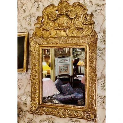 Louis XIV Mirror Golden And Carved Wood